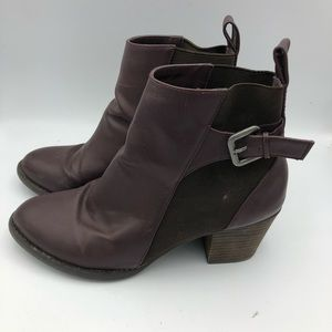American Eagle 9 1/2 Purple and Brown Booties